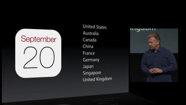 新型iPhoneの発売国