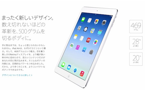 iPad air詳細